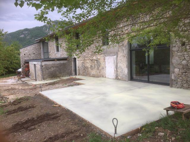 Construction terasse béton (après)