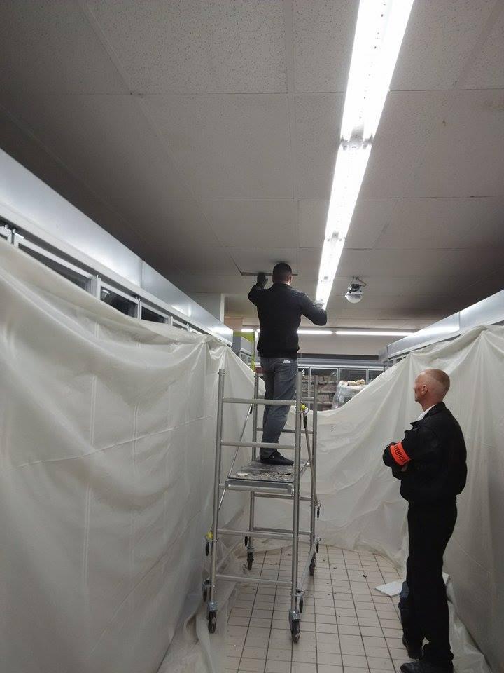 Remplacement des faux-plafonds abîmés