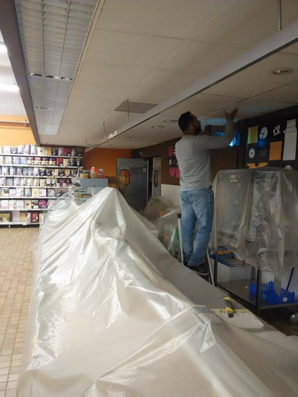 Changement plaques faux plafond