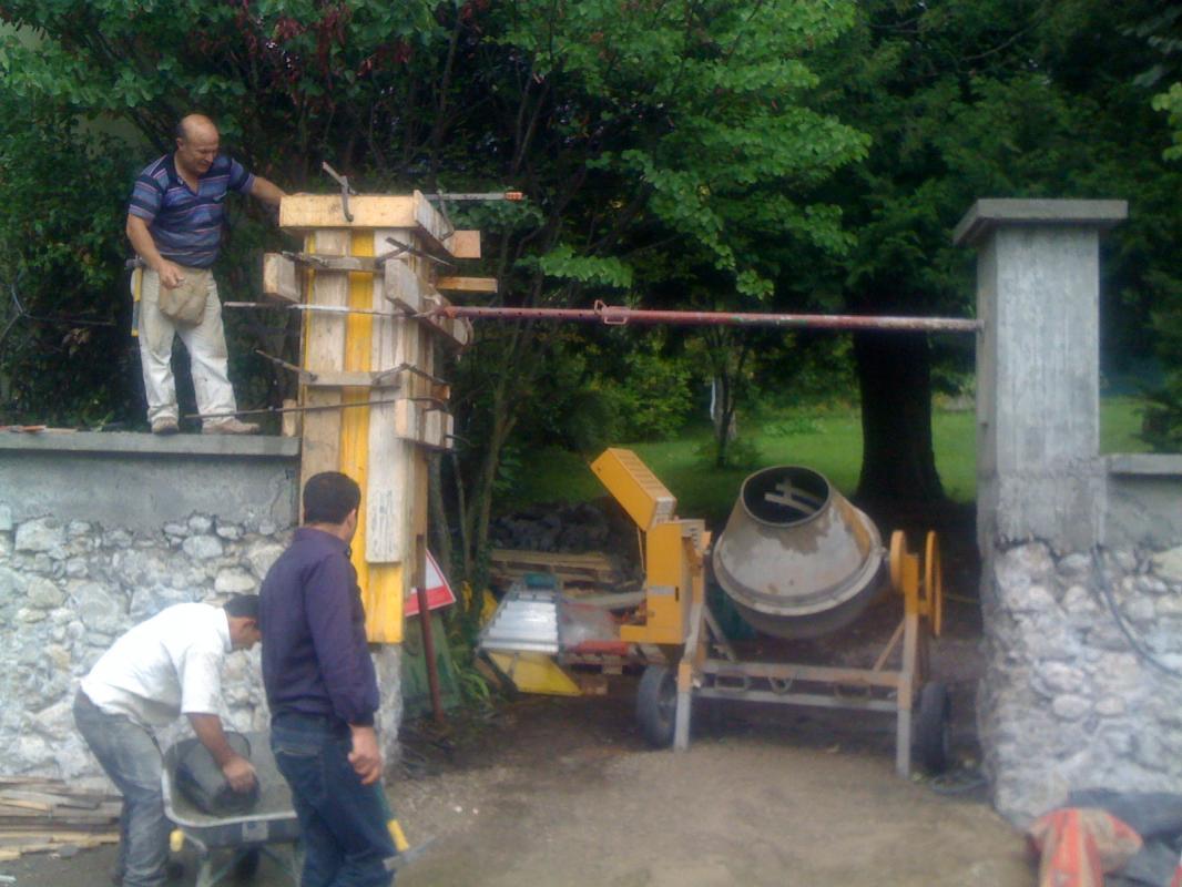 Construction pilier en béton